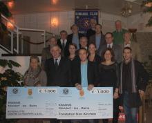 1000€ de la part de KIWANIS Mondorf